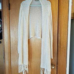Crochet beige sweater